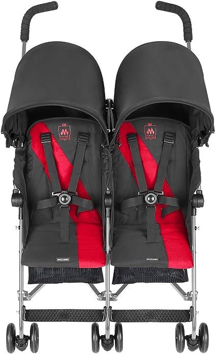 Maclaren Twin Triumph - Silla de Paseo Gemelar chacoal/rojo ...