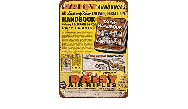 Placa metálica para la pared 1948 Daisy reproducción de rifles de aire comprimido aspecto Vintage Metal Tin Sign Wall Póster: Amazon.es: Hogar