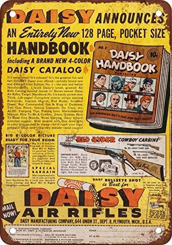Placa metálica para la pared 1948 Daisy reproducción de rifles de aire comprimido aspecto Vintage Metal