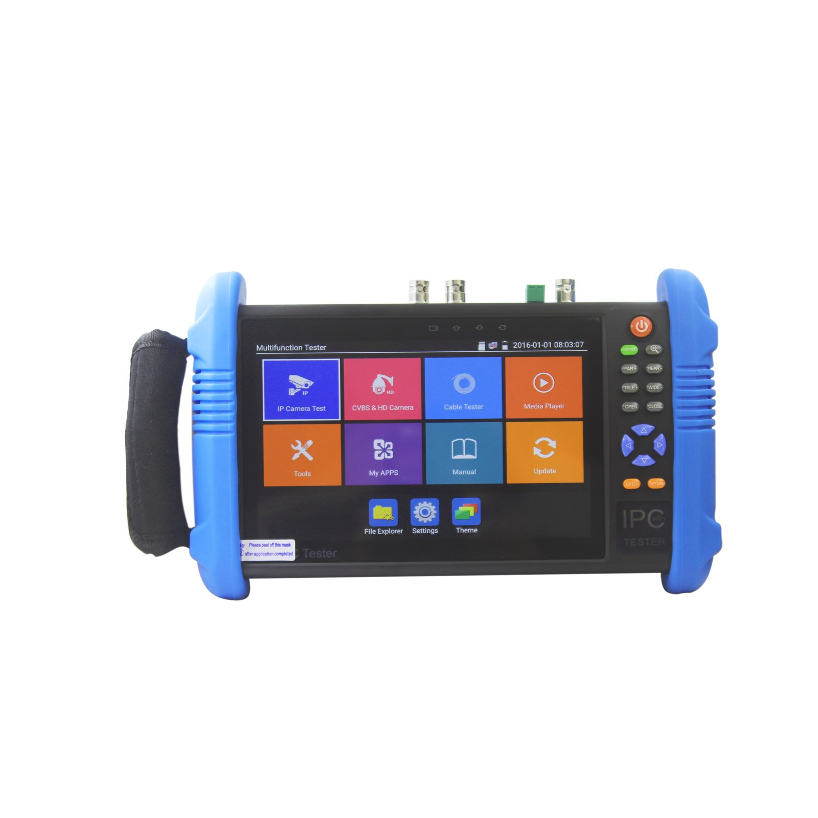 ETEKJOY IPC-9800ADHS-Plus CCTV IP&Analog Camera Tester Test 7-inch IPS Touch Screen Monitor CVBS Tester with HD-TVI/HD-CVI/AHD/SDI/POE/WIFI/8G TF Card/4K H.265/HDMI In & Out/RJ45 TDR/Firmware Upgraded by ETEKJOY
