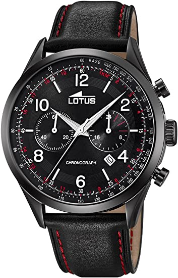 Lotus Watches Homme Chronographe Quartz Montre avec Bracelet en Cuir 185591