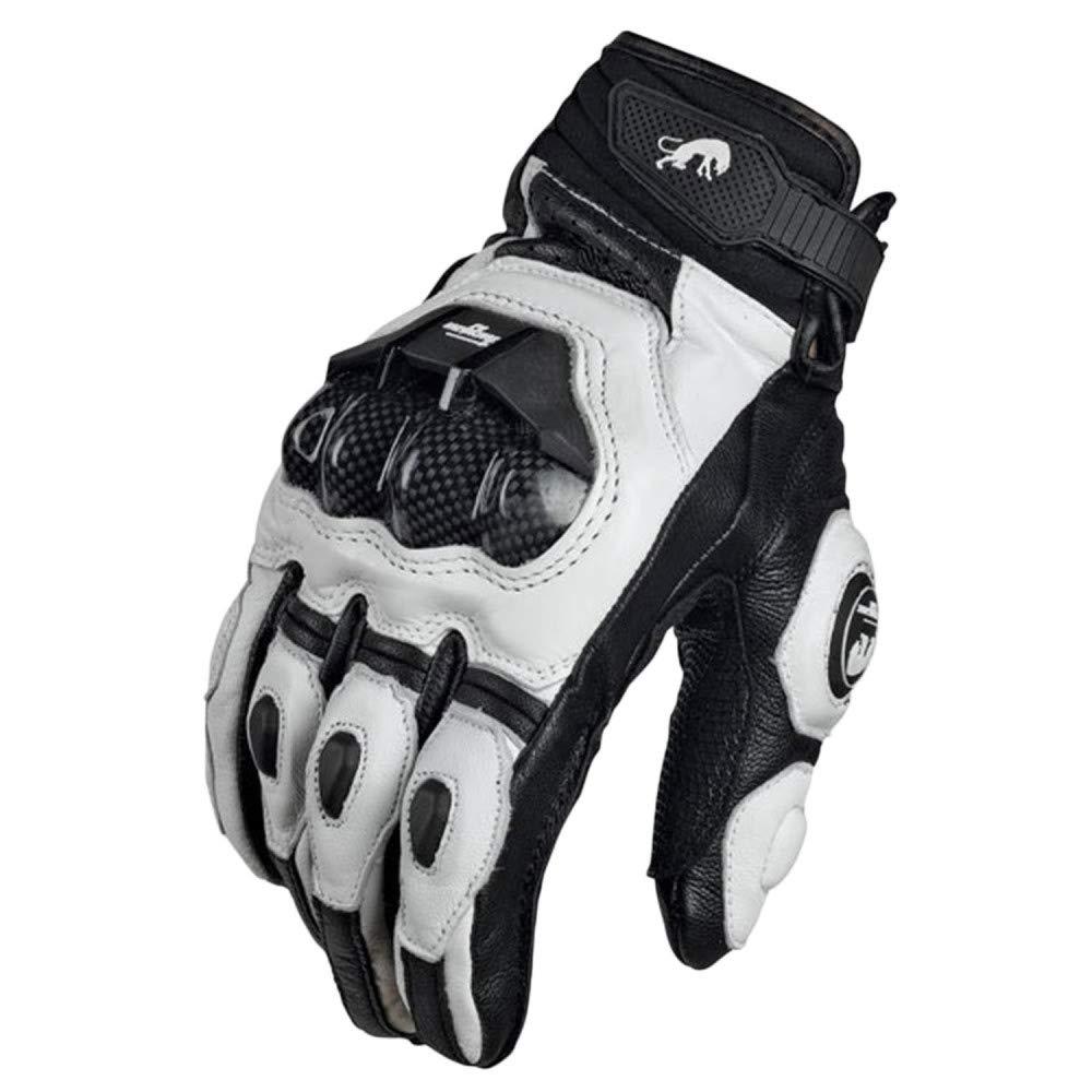 Snfgoij Outdoor-Handschuhschutz Sporthandschuhe Training Rennhandschuhe Leder Kohlefaser
