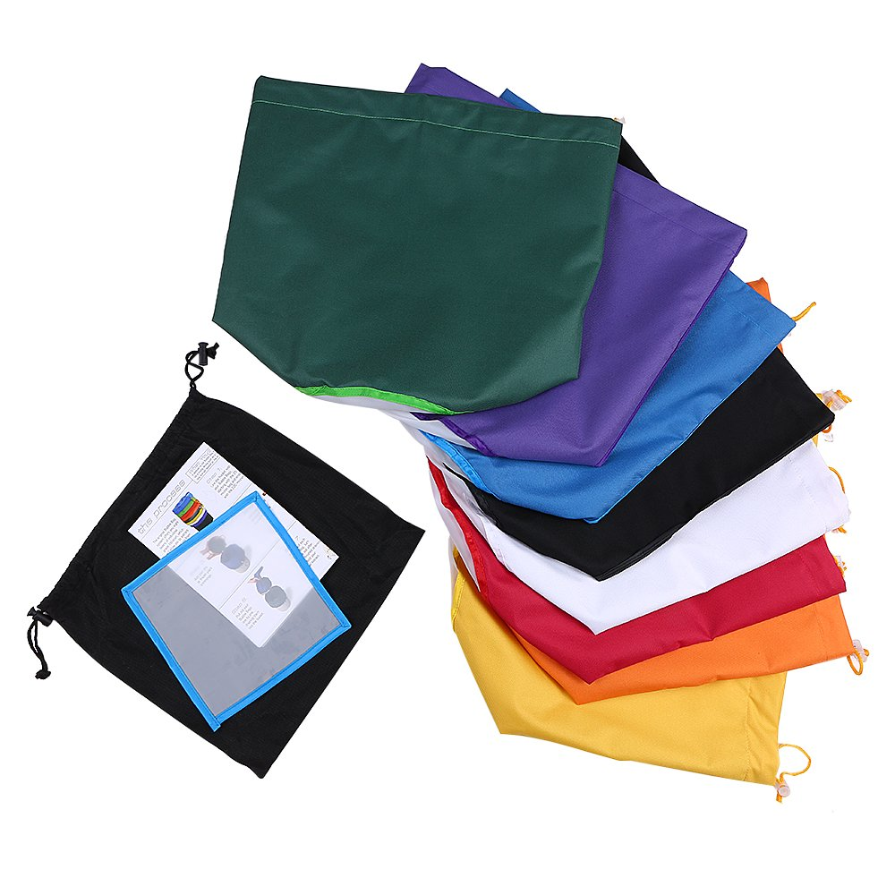 Walmeck 8pcs/set 5 Gallon Filter Bag Herbal Ice Bubble Hash Bag Extractor Kit Set of 8pcs Micron Bag Drawstring Bags Extraction Bags with Pressing Screen and Carrying Bag by Walmeck