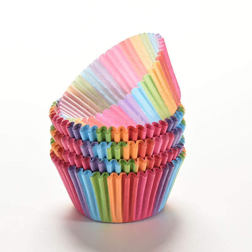 somedays Caissettes en Papier pour Muffin Cupcake g/âteau jetable Cuisson Cupcake Muffins et Cup-Cakes du Plaisir pour Tous 100PCS