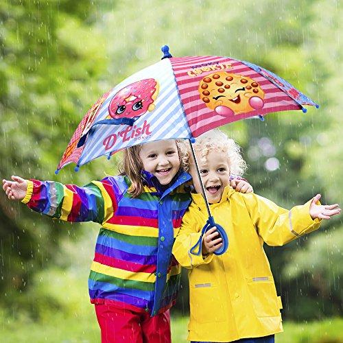 Shopkins Girls' Little Assorted Character Rainwear Umbrella, Blue/Pink, Age 3-7 by Shopkins (Image #3)