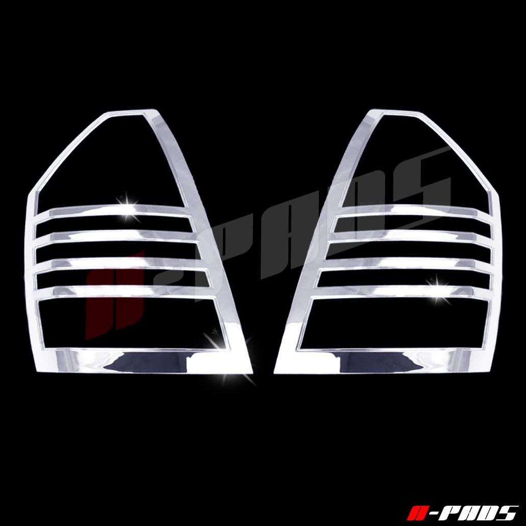 300C 2005 2006 2007 Taillights Lights PAIR A-PADS Chrome Tail Light Covers for Chrysler 300