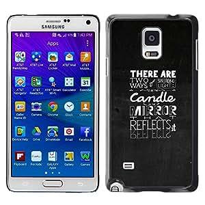 PC/Aluminum Funda Carcasa protectora para Samsung Galaxy Note 4 SM-N910F SM-N910K SM-N910C SM-N910W8 SM-N910U SM-N910 Typography Emotional Message / JUSTGO PHONE PROTECTOR