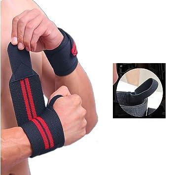 Fuerza muñeca envuelve apoyo lumbar correas (par) para levantamiento de pesas, crossfit,
