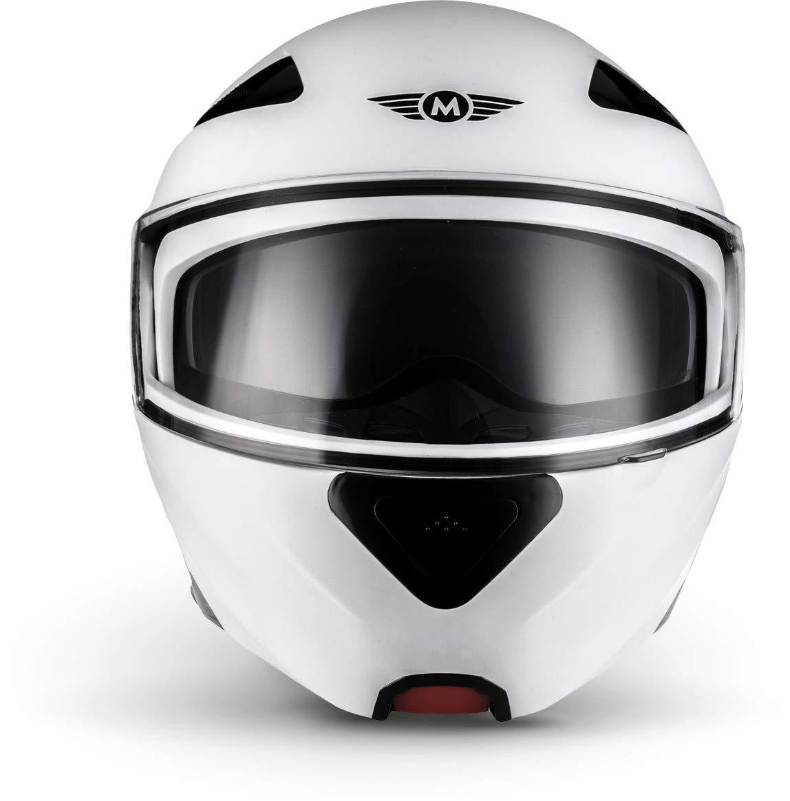 "59-60cm Moto Helmets/® F19 /""Matt White/"" /· Motorrad-Helm /· Klapp-Helm Modular-Helm Flip-up Integral-Helm Motorrad-Helm Roller-Helm Full-Face Scooter-Helm /· ECE Sonnenvisier Schnellverschluss Tasche L"