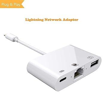 Amazon.com: 3 en 1 Lightning a RJ45 Ethernet LAN Wired ...