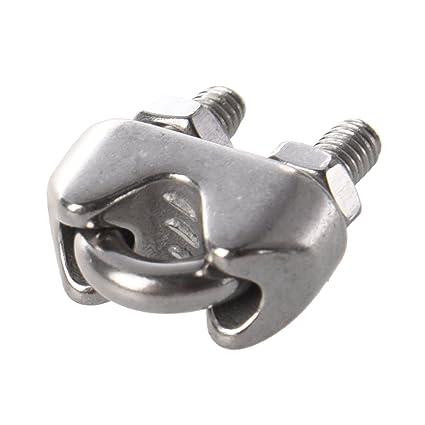 Clip de cable de acero inoxidable - TOOGOO(R) 10 piezas Clip ...