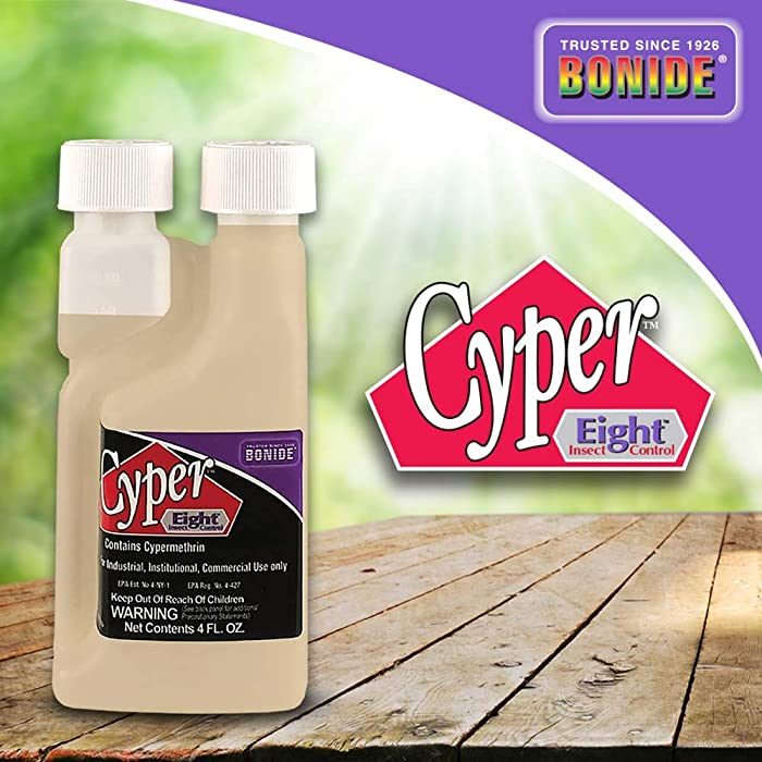 Bonide (BND030) - Cyper Eight Insect Control Home Defense, Indoor & Outdoor Insecticide/Pesticide Concentrate (4 oz.)