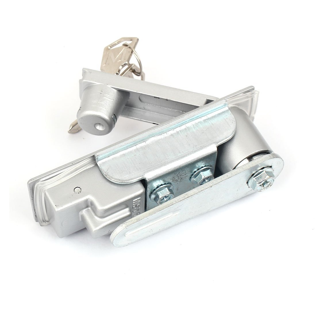 DealMux 4.3 Length Silver Tone Metal Panel Lock for Iron Distribution Cabinet
