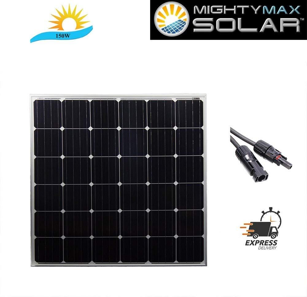 Mighty Max Battery 150 Watt 12 Volt Monocrystalline Off Grid Solar Panel Brand Product
