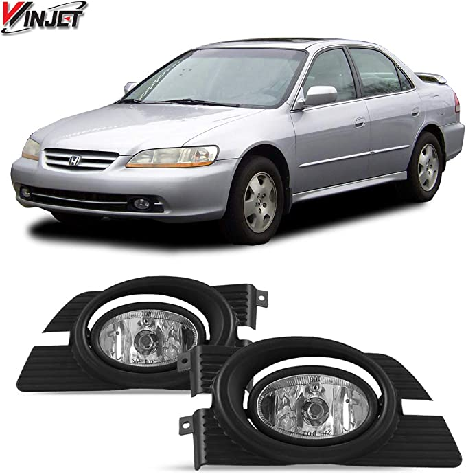 [SCHEMATICS_48EU]  Amazon.com: Winjet WJ30-0103-09 Clear Lens Fog Light Kit (Honda Accord 4  DOOR Coupe ONLY Wiring Kit and Bezel Included): Automotive | 95 Accord Headlights Wiring Harness |  | Amazon.com