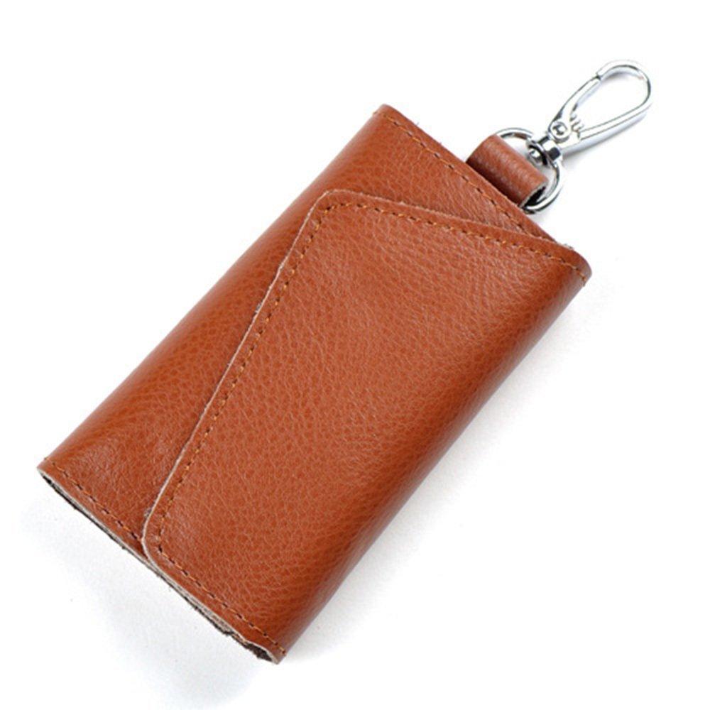 Aladin Leather Pocket Key Organizer Case with 6 Hooks & 1 Car Key Fob Holder KC001-BLA