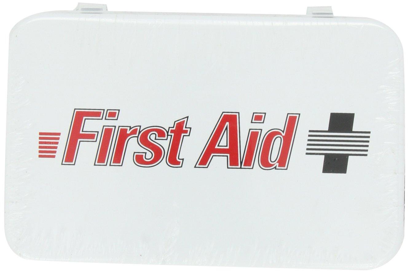 North by Honeywell 3510#2F 10 Unit Steel Econo - First Aid Logo