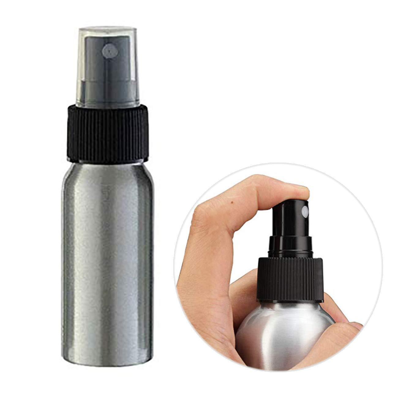 Uheng 20 Pack 5oz Aluminium Essential Oil Spray Bottles Refillable Perfume Fine Mist Atomiser Empty Beauty Metal Spray Bottles Cosmetic Pack Container travel Bottles
