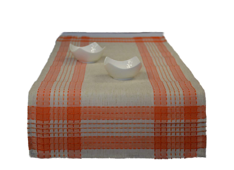 Camino de mesa Camino de mesa (aspecto de lino a cuadros rústico ...