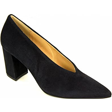 e504e52e9252 Hogl Court Shoe - 107522 6.5 Navy Suede  Amazon.co.uk  Shoes   Bags
