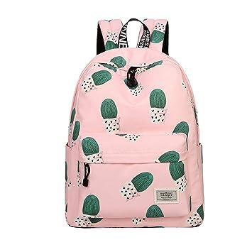 Gespout Escolares Mochilas Lienzo Portátil Bolso Deporte Mochila para Mujer Niñas Juveniles Cumpleaños Regalo Daypacks Mochila Senderismo Viaje Cactus ...