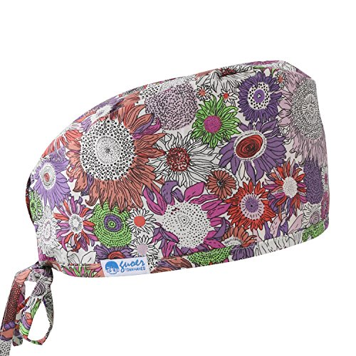 GUOER Women's and Men's Scrub Cap Scrub Hat One Size Multiple Color (Purple)