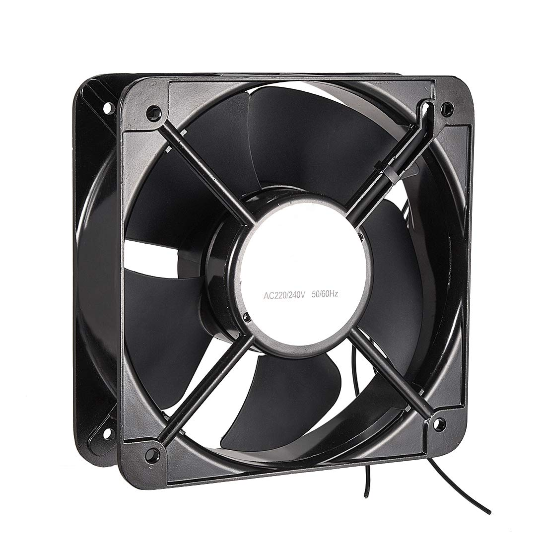 uxcell Cooling Fan 200mm x 200mm x 60mm FP-20060EX-S1-B AC 220V/240V 0.45A Dual Ball Bearings