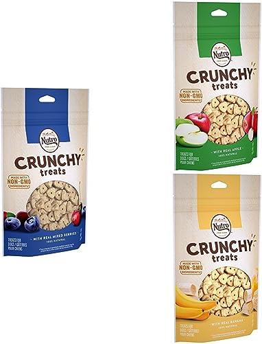 NUTRO Crunchy Dog Treats Variety, 10 oz. Bag Pack of 3
