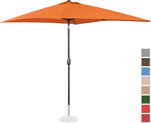 Uniprodo Sombrilla Grande Parasol De Jardín Uni_Umbrella_TSQ2030OR (Color Naranja, Pantalla Rectangular De 200 x 300 cm, Inclinable): Amazon.es: Jardín