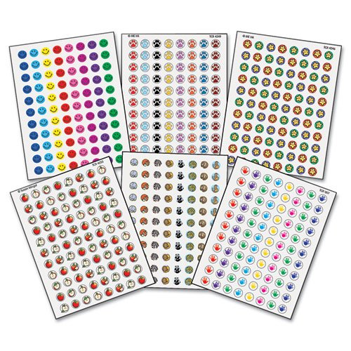 Teacher Created Resources 9029 Teacher Created Resources Mini Stickers Variety Pack, 6 Designs