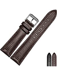 MSTRE NP19 20mm/22mm Unisex Calfskin Leather Watch Band Suitable For Movado/Tudor/Patek philippe Watches (20mm, brown)
