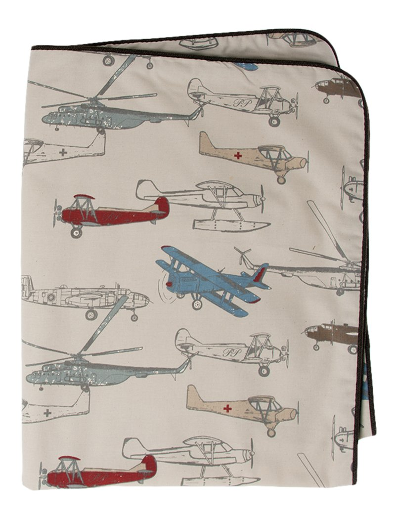 Glenna Jean Fly-By Throw, Airplane Print Glenna Jean Mfg. 12702