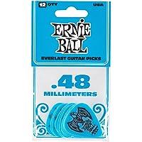 Púas de guitarra Everlast de 0.48 mm, color azul (P09181)