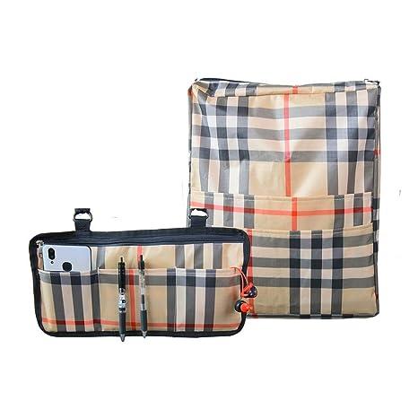 QEES 2 bolsas para silla de ruedas, sillas de ruedas de alta resistencia, mochila de almacenamiento y reposabrazos, organizador lateral, organizadores ...
