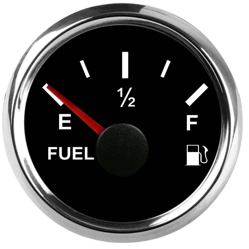 ELING Universal Fuel Level Gauge Meter 0-190ohm Signal 2'(52mm) Backlight 9-32V