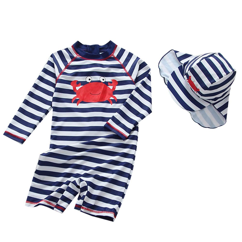 Baby Boys One Piece Swimsuit Toddler UV Sun Protective Long Sleeve Bathing Suit Surfing Suit UPF 50+ CZ-TZ-YY220
