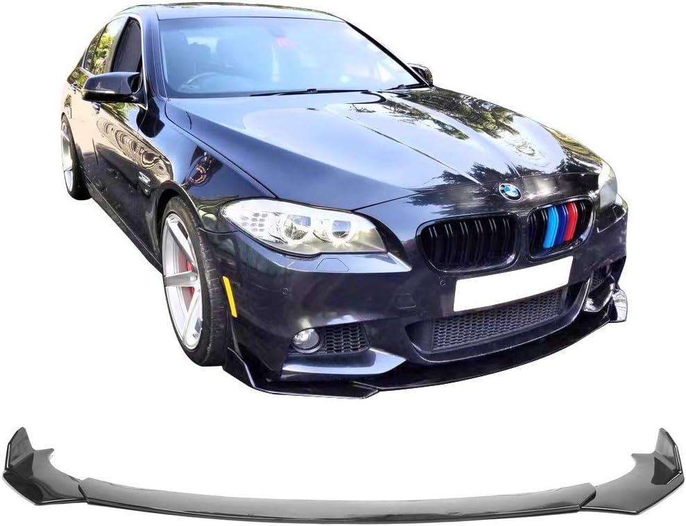 Universal A Style Front Bumper Lip Chin Splitter Spoiler Air Dam Gloss Black IKON MOTORSPORTS