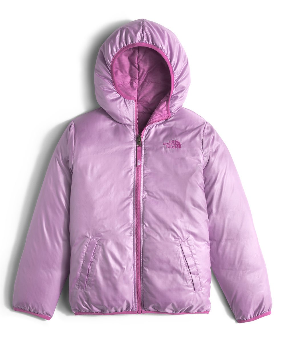 The North Face Kids Girls' Reversible Moondoggy Jacket (Little)2, Wisteria Purple Heather, MD (10-12 Big Kids) by The North Face (Image #4)
