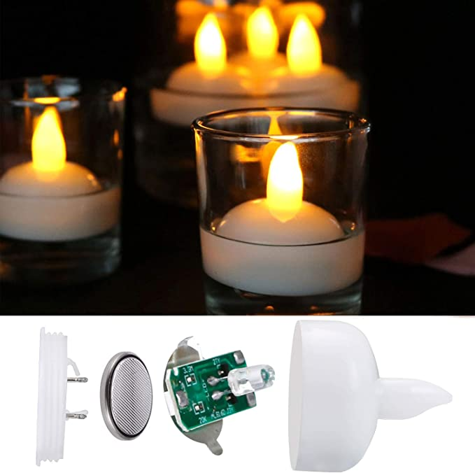 12 Velas LED Flotantes, flintronic ® Velas Led de Té Velas Eléctricas con Baterías para San Valentín, Cumpleaños, Navidad, Halloween Decoración, Blanco Cálido [Clase de eficiencia energética A]: Amazon.es: Hogar