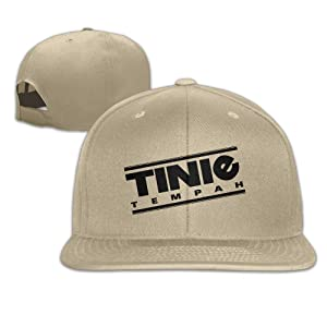 Adult Tinie Tempah Rapper Youth Adjustable Snapback Flat Baseball Cap - 5 Colors Natural