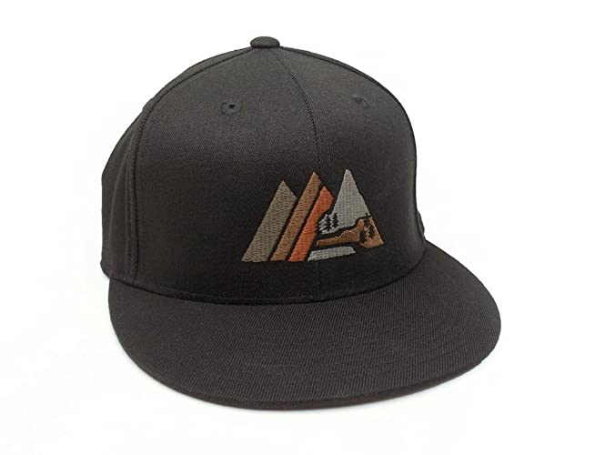 Image Unavailable. Image not available for. Color  Retro Mountain Hat -  Men s Fitted   Snapback Options Available fbb4697ce6fe