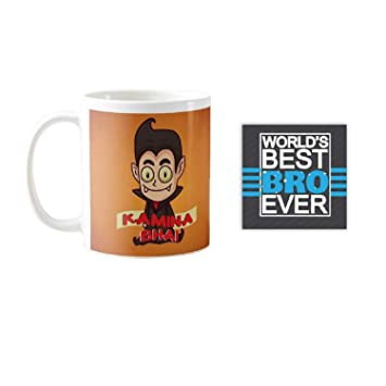 Buy YaYa CafeTM Birthday Gifts For Brother Kamina Bhai Quote Printed Mug 330 Ml Rakhi Online At Low Prices In India