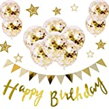 LIHA 誕生日 飾り付け バルーン ガーランド 風船 バースデー セット デコレーション 飾り タッセル おしゃれ 女の子 男の子 … (ペーパーポム)