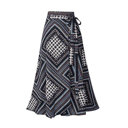 Falda para Mujer con impresión Irregular de LeeMon, Vintage ...