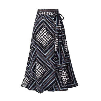 Sylar Faldas Largas Bohemias Faldas Plisadas Mujer Estampado ...