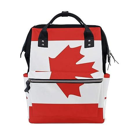 Bolsa de pañales de gran capacidad, mochila para el cuidado del bebé, bandera de
