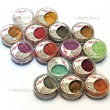 Brand New 15 Cold Metallic Colorful Glitter Shimmer Pearl Loose Eyeshadow Pigments Mineral