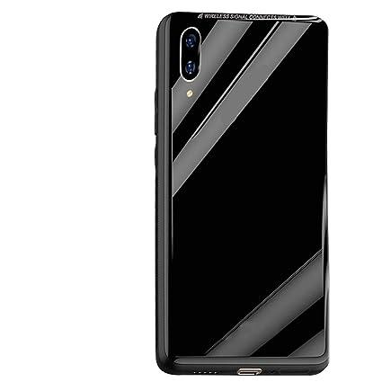 reputable site 7f8f7 91559 Taslar Slim Hard PC Glass Back Case Cover for Vivo NEX (Black)