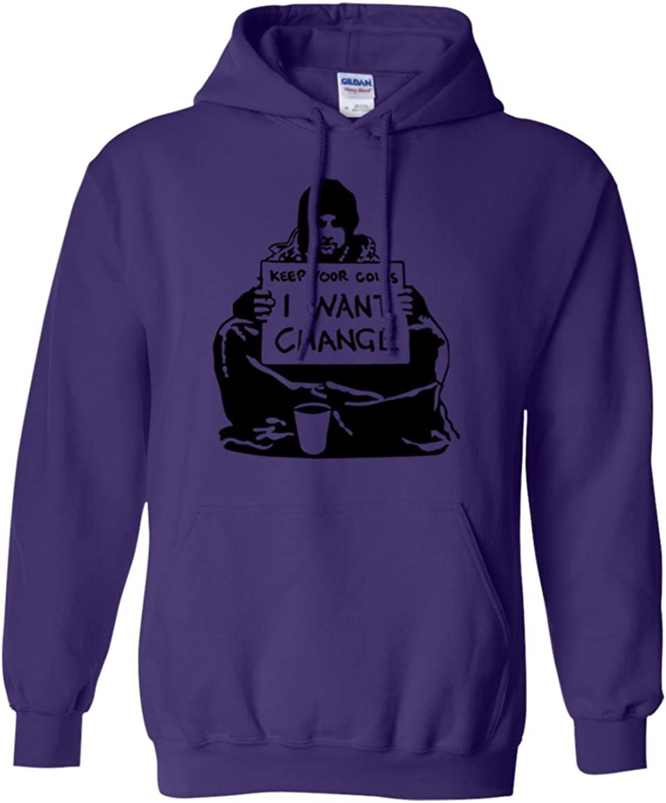 Banksys Keep You Coins I Want Change Hoodie