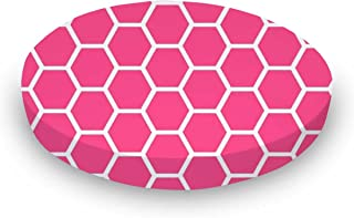 product image for SheetWorld Round Crib Sheets - Hot Pink Honeycomb - Made In USA